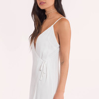 Hannah Deep V Wrap Shift Dress