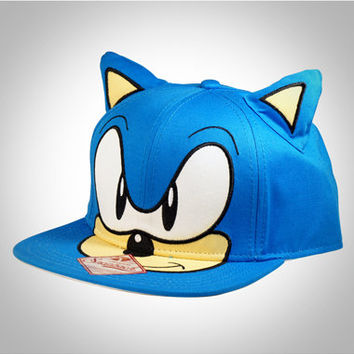 e17a755cb5e67 Sonic 3d Ears Snapback Hat from Spencers Gifts