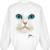 Cat Face Uni-Sex Sweatshirt