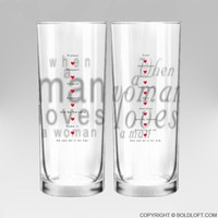 Together in Love™ Couple Drinking Glass Set, Wedding Gifts,Wedding Gifts for the Couple,Wedding Gifts for Bride and Groom,His and Hers Gifts,Anniversary Gifts