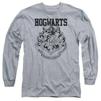 Harry Potter - Hogwarts Athletic Long Sleeve Adult 18/1 Officially Licensed Shirt