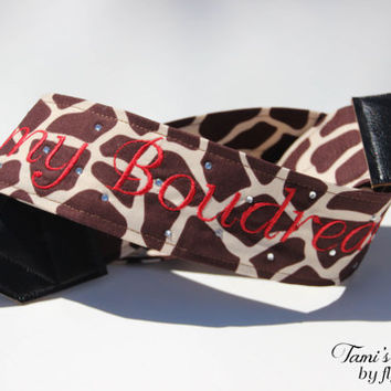 Giraffe Camera Strap, DSLR Camera Strap, Custom Camera Strap, Personalized Camera Strap, Canon, Nikon