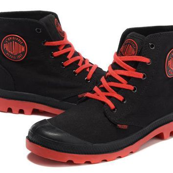 Palladium Pampa Hi Originale Tx High Boots Black Red - Beauty Ticks
