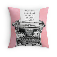 'Would You Be So Kind' Throw Pillow by ral7224