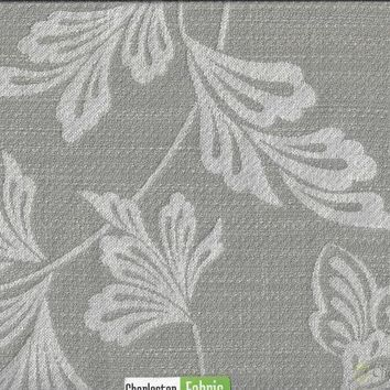 Nude Floral Polyester Fabric-Backed