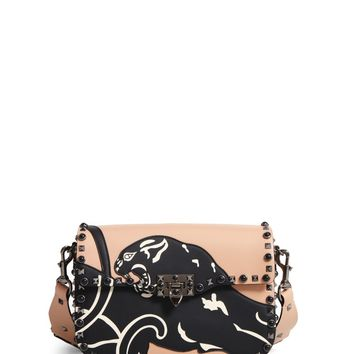 Valentino Rockstud Rolling Guitar Strap Leather Shoulder Bag | Nordstrom