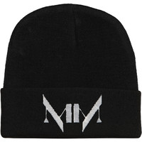Marilyn Manson Men's MM Logo Beanie Black