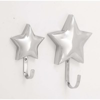 Gleaming Star Wall Hook Set Of 2