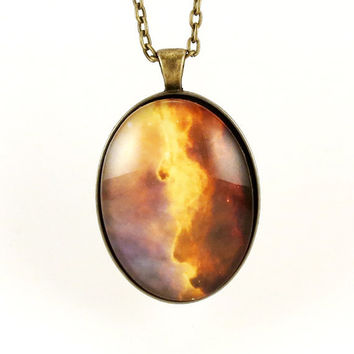 Galaxy Pendant Cosmos Nebula Necklace Cosmic by cellsdividing
