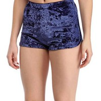 Crushed Velvet High Waist Hot Shorts