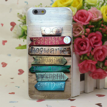 Harry Potter Wooden Signs Case Cover for iPhone 4 4S 5 5S SE 5c 6 6s 7 7 Plus