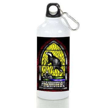 Gift Sport Bottles | Hufflepuff Stained Glasses On Hog Warts School Aluminum Sport Bottles