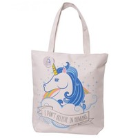 I DON'T BELIEVE IN HUMANS UNICORN TOTE