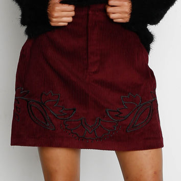 Mink Pink Valley of the Vine Skirt