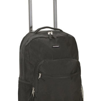 "R01-BLACK 17"" Rolling Backpack"