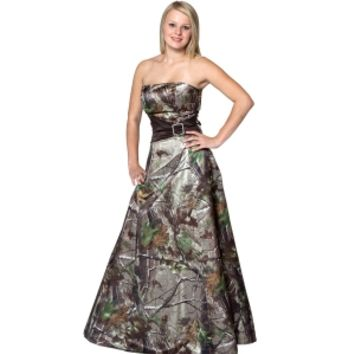 Camo Formal Wear :: Formal Long :: Realtree Camo Gown with Sash - The RealStore at Realtree.com