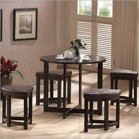 Wholesale Interiors Baxton Studio Rochester 5 Piece Dining Table Set
