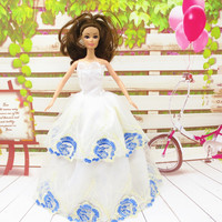 2015 handmade for barbie doll clothes dress the best Christmas gift baby h781