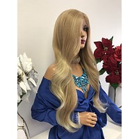 "Blond Swiss Lace Front Wig 27"" 1218 2"