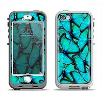 The Turquoise Butterfly Bundle Apple iPhone 5-5s LifeProof Nuud Case Skin Set