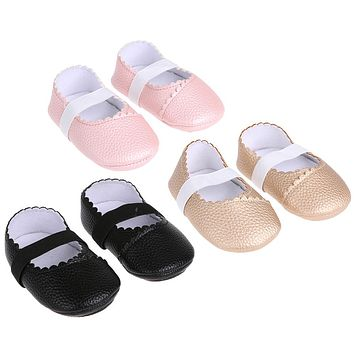 Baby Leather Shoes First Walkers New Infant Toddler Dancing Shoes Anti-slip Oxford Bottom PU Sneaker Prewalker Baby Moccassins