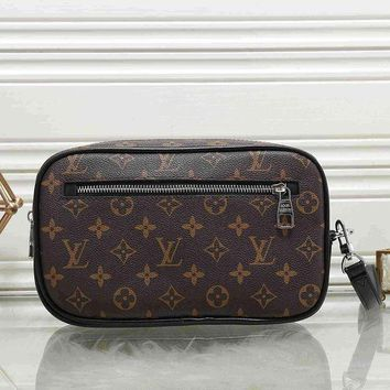 Louis Vuitton LV Fashion Leather Clutch Bag Leather Tote Handbag