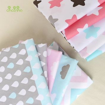 Printed Twill Cotton Fabric For Sewing Quilting Star & Cloud Tissue Baby Bedding Sheets Sleepwear Children Dress Skirt Material