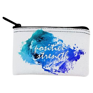 Inspirational Words Positive Strength Coin Purse