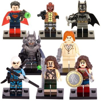 Batman Dark Knight gift Christmas Freeshipping 8pcs/Lot X0108 Superheroes Building Block  Deathstroke Red hood Aqua Man Pirates Batman Lex Luther AT_71_6