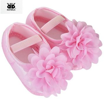 Kids Baby Shoes Prewalker Flower Soft Sole Infant Girl First Walkers Booties for Newborn Anti-slip Crib Shoes Sapatinhos De Bebe