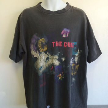 THE CURE T-shirt 1989 Tour/ Original The PRAYER Tour Brockum UsA Made Cotton Black Shirt/ Vintage Robert Smith Goth Rock Dream Pop Tee