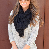 Love For Crotchet Scarf: Black