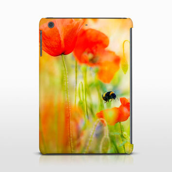 Red Poppies Tablet Case, Nature Photography, Spring Art Case, iPads, Samsung Galaxy, Nature Art