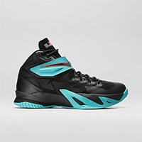 The Nike Zoom LeBron Soldier VIII Men's Basketball Shoe.