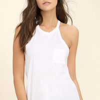 Others Follow Allyson White Tank Top