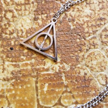 Harry Potter Deathly Hallows Charm Necklace