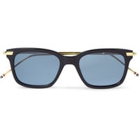 Thom Browne - Gold and Acetate Square-Frame Sunglasses | MR PORTER