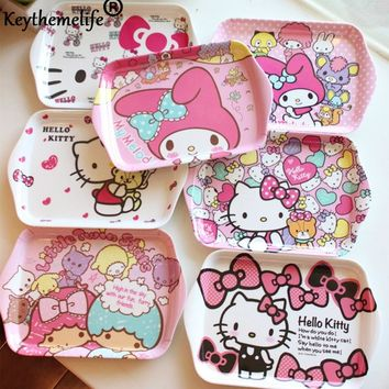 HELLO KITTY  Cartoon Cute Design Appetizers Dish Shape Candy Plate Bowl Cake Display Dish Small Dish Gift CA