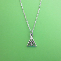 Tiny, Cute, Triangle, Silver, Keychain, Bangle, Bracelet, Necklace, Birthday, Lovers, Friends, Sister, Gift