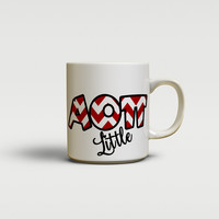 ALPHA OMICRON PI - CUTE CHEVRON LETTERS - AOPi SORORITY BIG AND LITTLE MUG