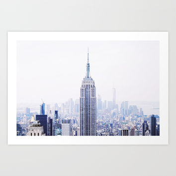 New York City - Manhattan Cityscape - Empire State Building Photograph Art Print by cadinera