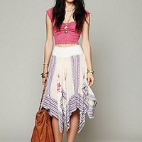 Free People  Printed Squared Off Slip Skirt at Free People Clothing Boutique