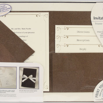 vintage ivy pocket invitation kit - 25 pack