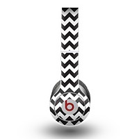 The Black & White Chevron Pattern Skin for the Beats by Dre Original Solo-Solo HD Headphones
