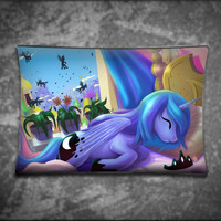Unique Pillow Cover - Sleeping Ponies Princess Luna - Suitable For Any Age, Soft, Comfortable, Stylish