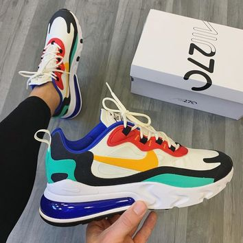 NIKE Air Max 270 React Air cushion jogging shoes