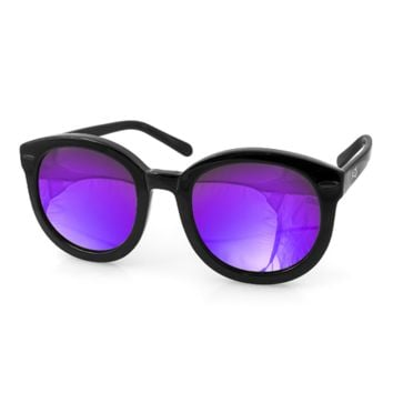 Aqs Women's Betty Round Oversized Sunglasses | Bluefly
