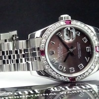 ROLEX - Ladies White Gold & SS Datejust MOP Diamond Dial 179174 - SANT BLANC