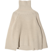 Oversized Turtleneck Raglan Sweater