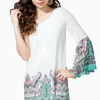 Paisley Pop 1-Shoulder Dress